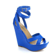 Breckelles Wrap Wedge Blue
