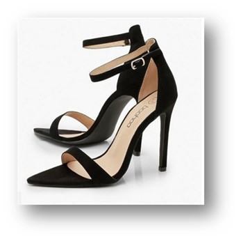black-pointed-toe-two-part-heels BooHoo
